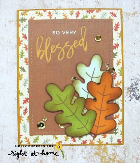 So Very Blessed Fall Leaves Inlaid Die Cut Card by Holly // rightathomeshop.com/blog