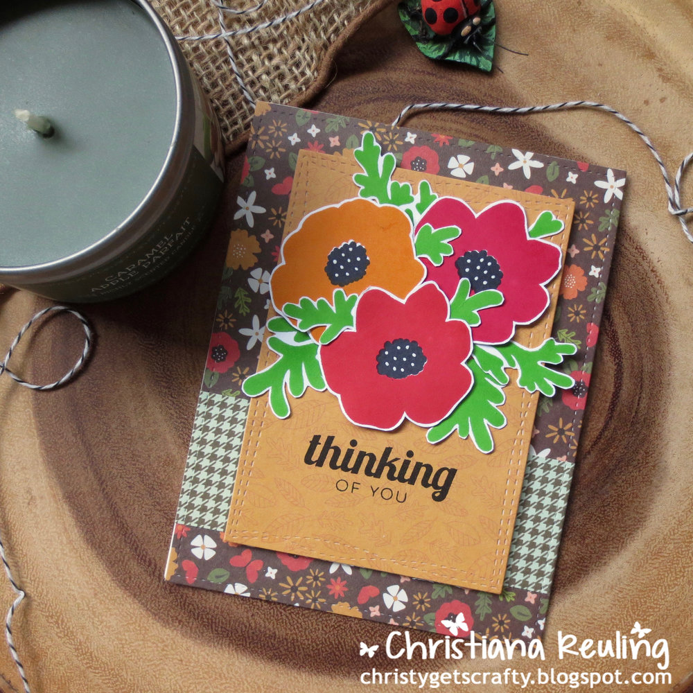 Thinking of You Card Using Anemone as Poppies by Christy // rightathomeshop.com/blog