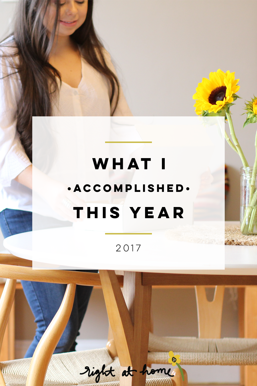 What I Accomplished This Year // 2017 Year In Review - rightathomeshop.com/blog