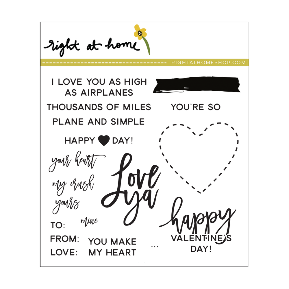 Right at Home Stamps // Love Ya (available at rightathomeshop.com)