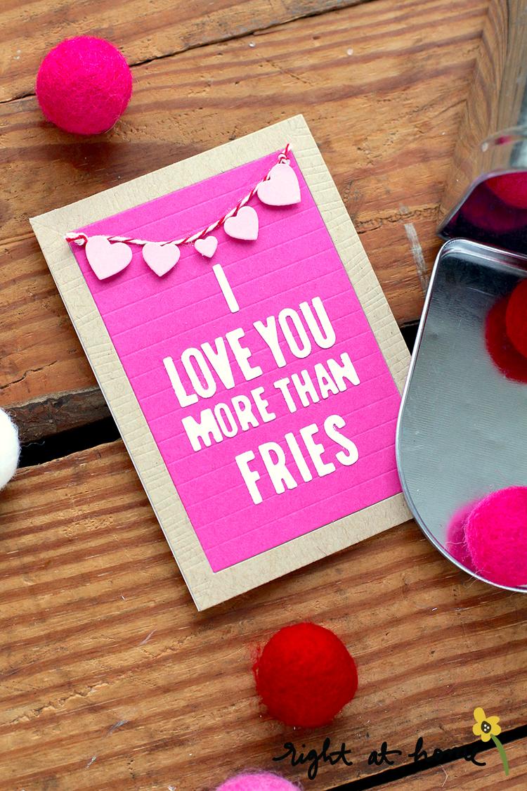 Letterboard Love Die Set Valentines Gift Cards