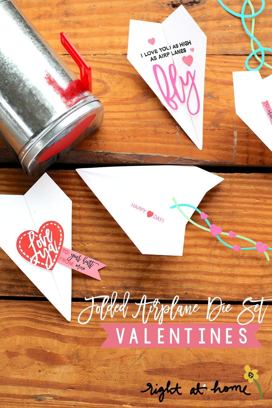 Day #1: Folded Airplane Die Set Valentines // rightathomeshop.com/blog