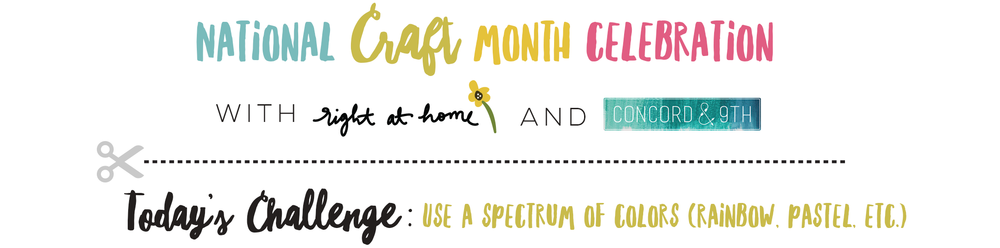 You Make A Happy Life Anemone Card // National Craft Month Celebration with Right at Home + Concord & 9th