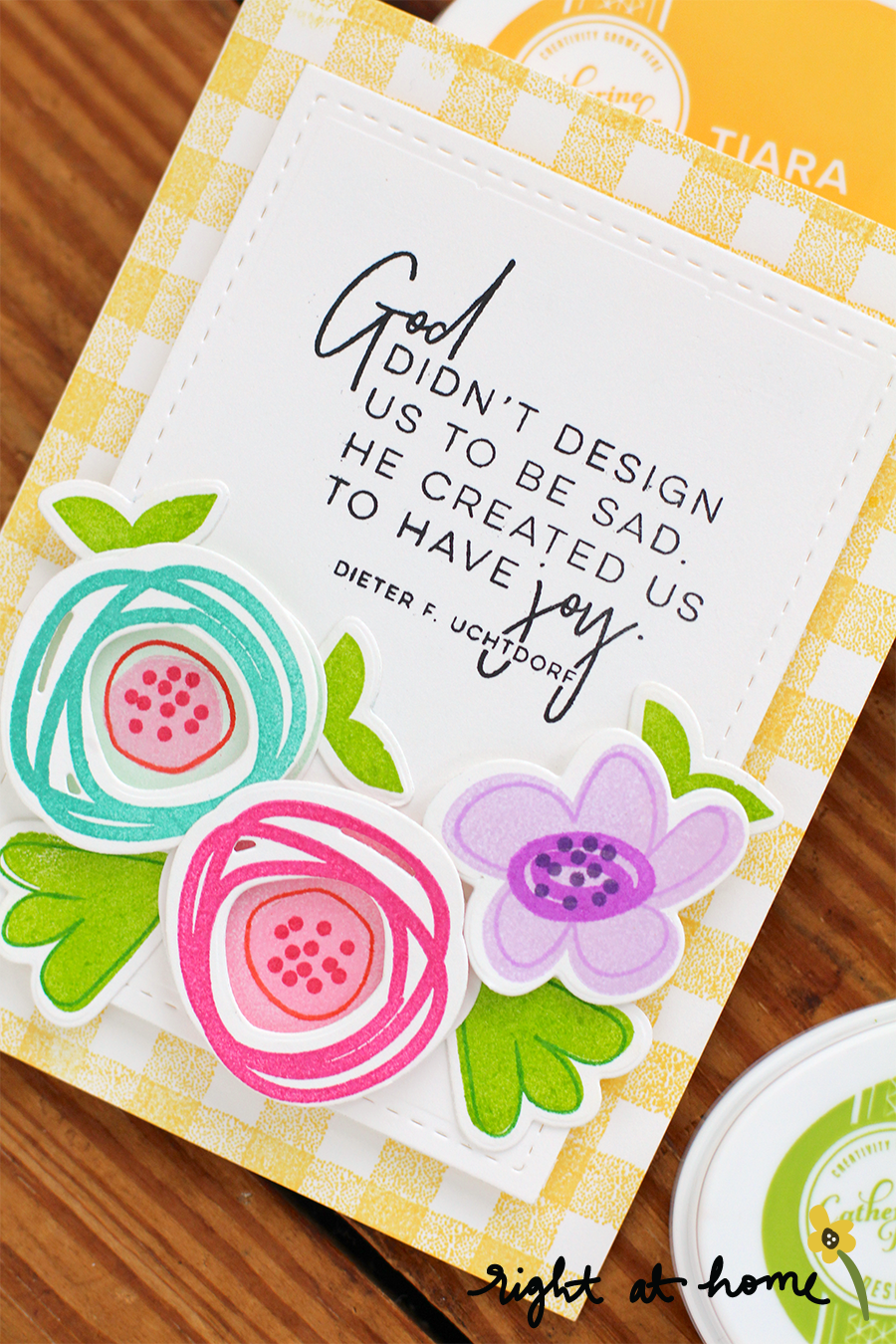 Have Joy Abstract Florals Card // National Craft Month with Right at Home + A Rare Ruby Crafts - rightathomeshop.com/blog