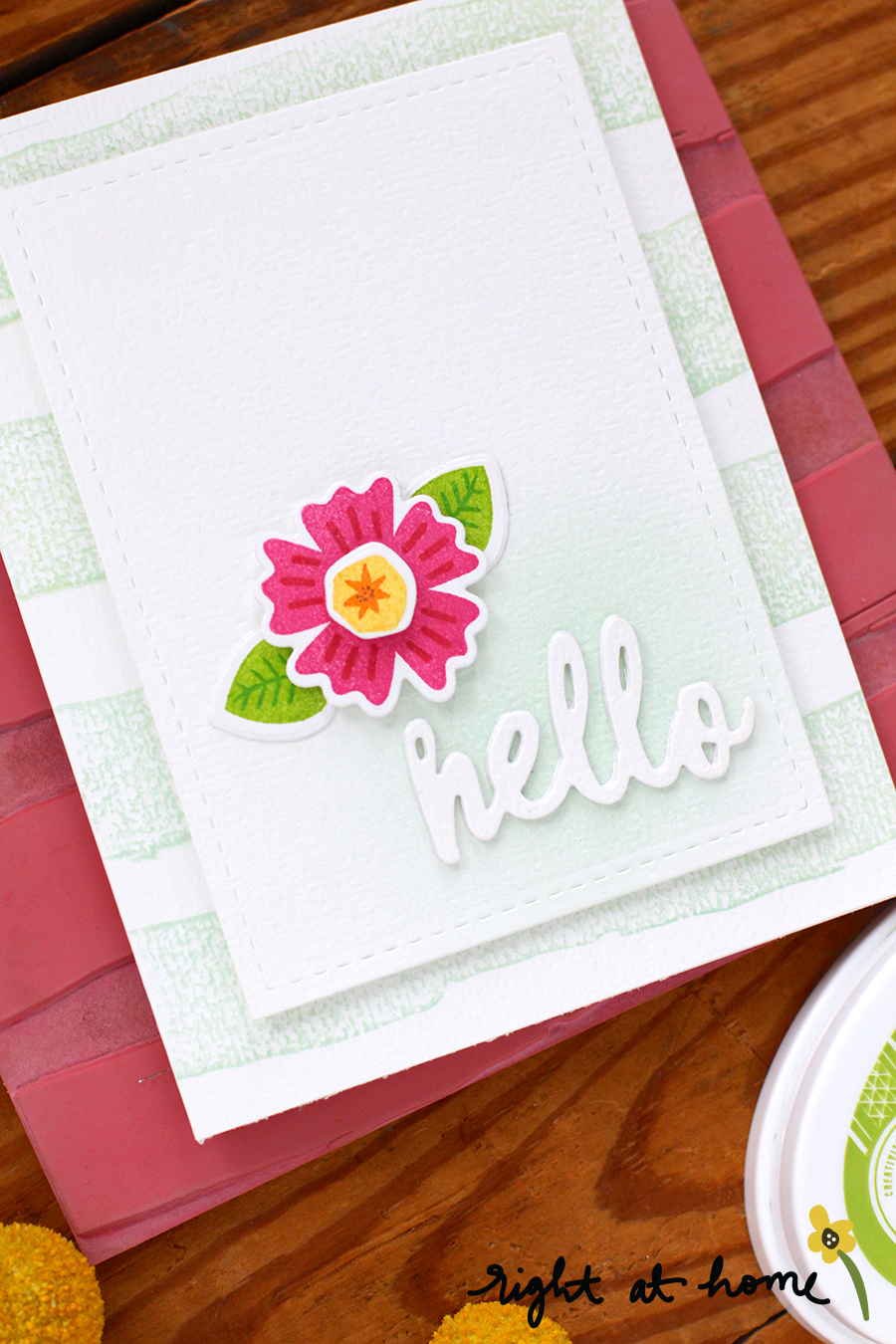 Hello Find the Beauty Clean & Simple Card // National Craft Month with Right at Home + Friends - rightathomeshop.com/blog