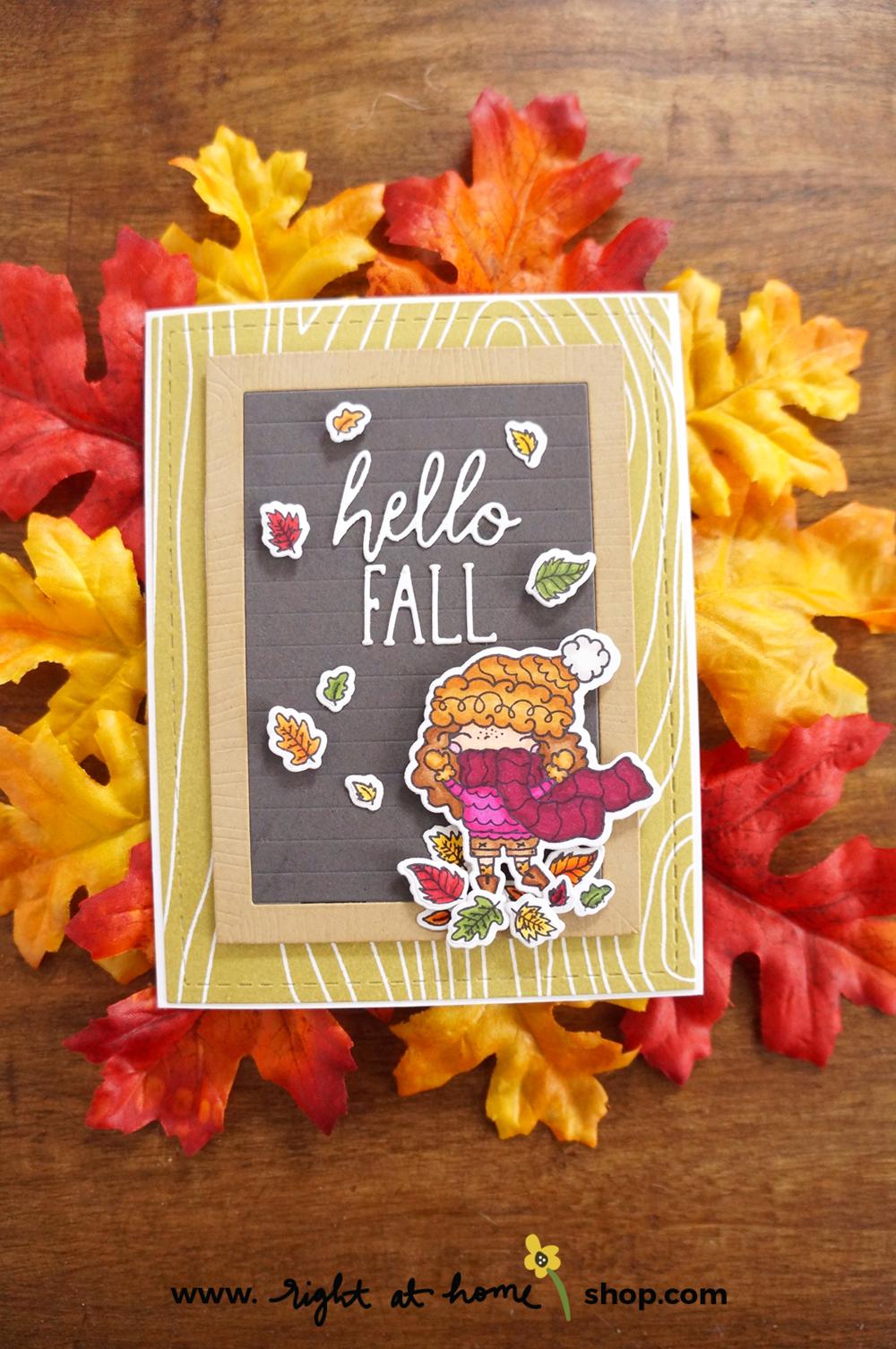 Hello Fall Pumpkin Spice Season Letterboard Card // rightathomeshop.com/blog