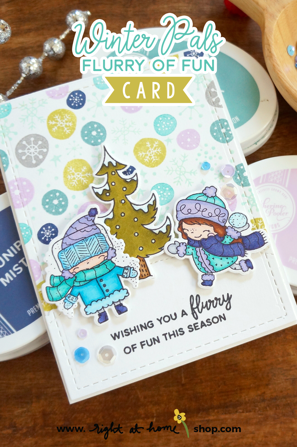 Winter Pals Flurry of Fun Card // rightathomeshop.com/blog