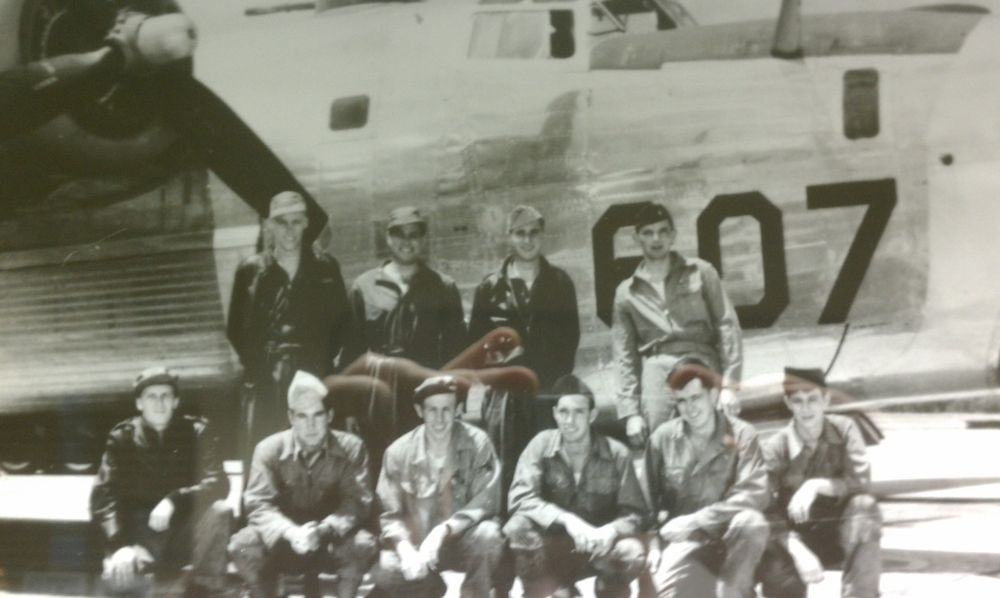 Larry (the tall one, back left) and his flight crew