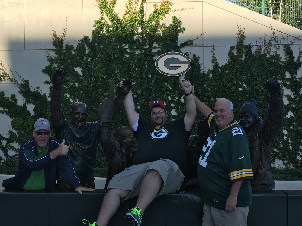 Matt and DJ make the Lambeau Leap!