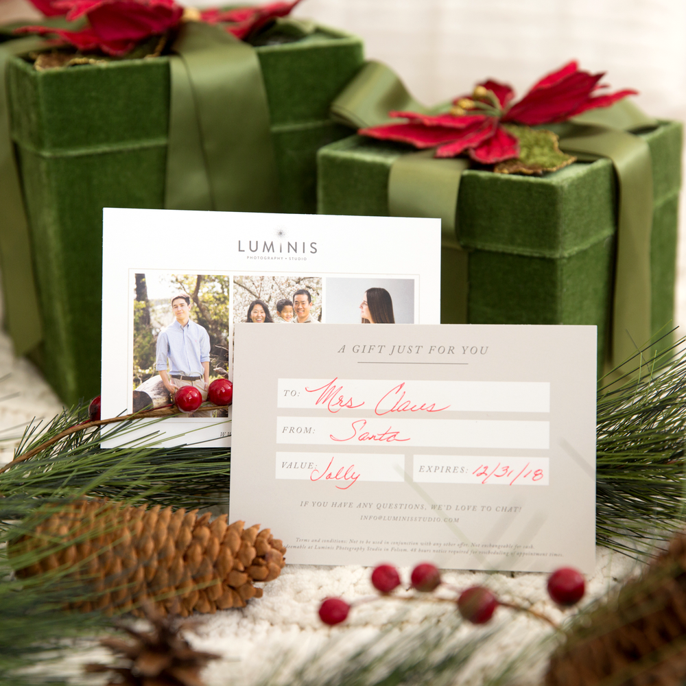 luminis studio gift card holiday