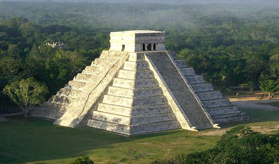 Michelle and I climbed this pyramid at Chichen Itza and came close to rolling down it...