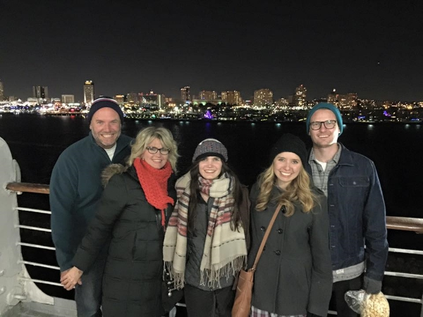 From the deck of the Queen Mary in Long Beach...Merry Christmas to you from Greg, Michelle, Carly, Kendra & Chase