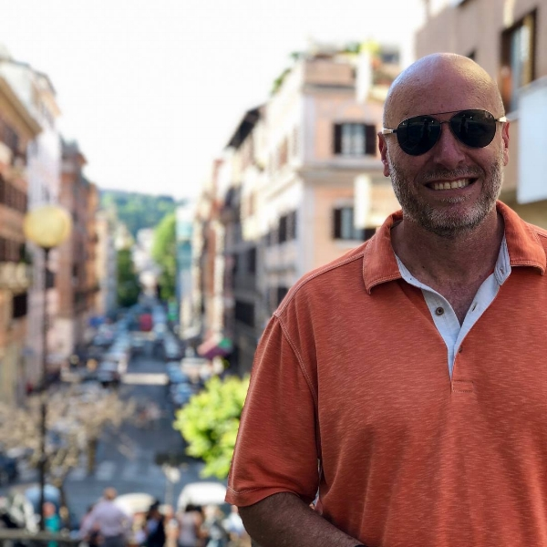 This is me in Rome just starting to feel the Sabbatical comin'on. I learned so much here. For a slice of what I learned about Big Sundays from going to church at the Pantheon, click  here .