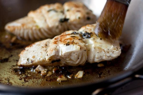 pan-seared-marinated-halibut