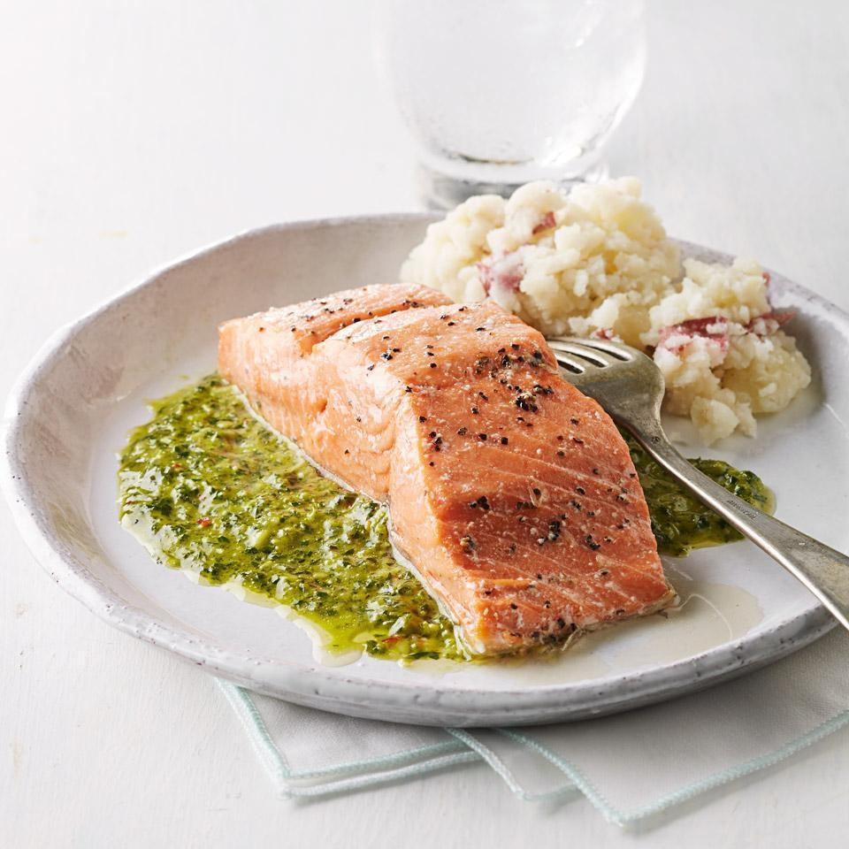 salmon chimichurri