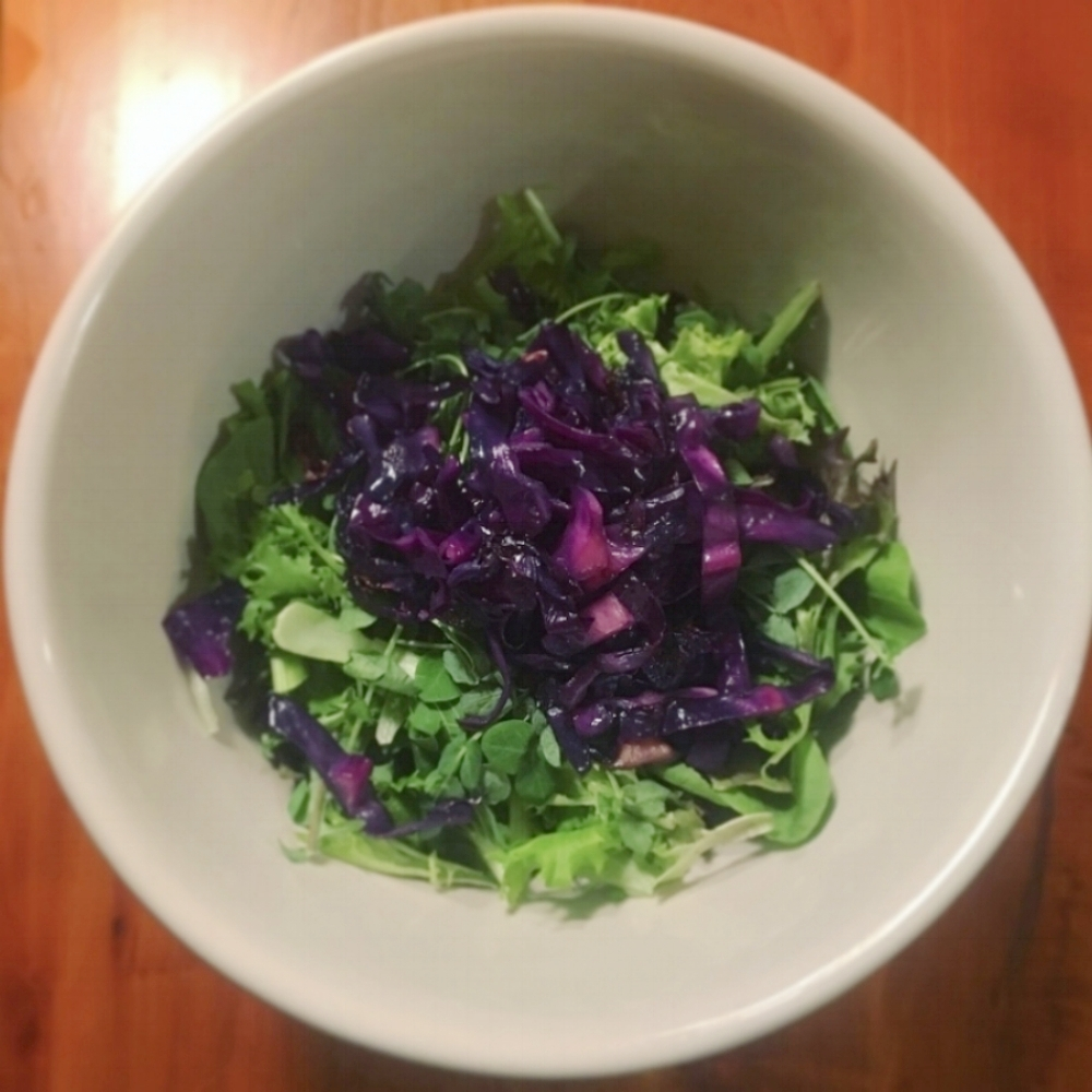 Greens with Cabbage