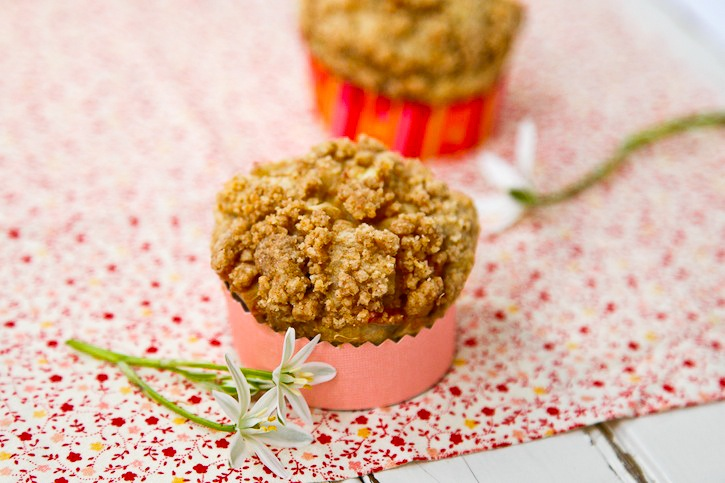 Rhubarb Maple Muffins