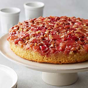 Flourless Rhubarb Almond Upside-Down cake