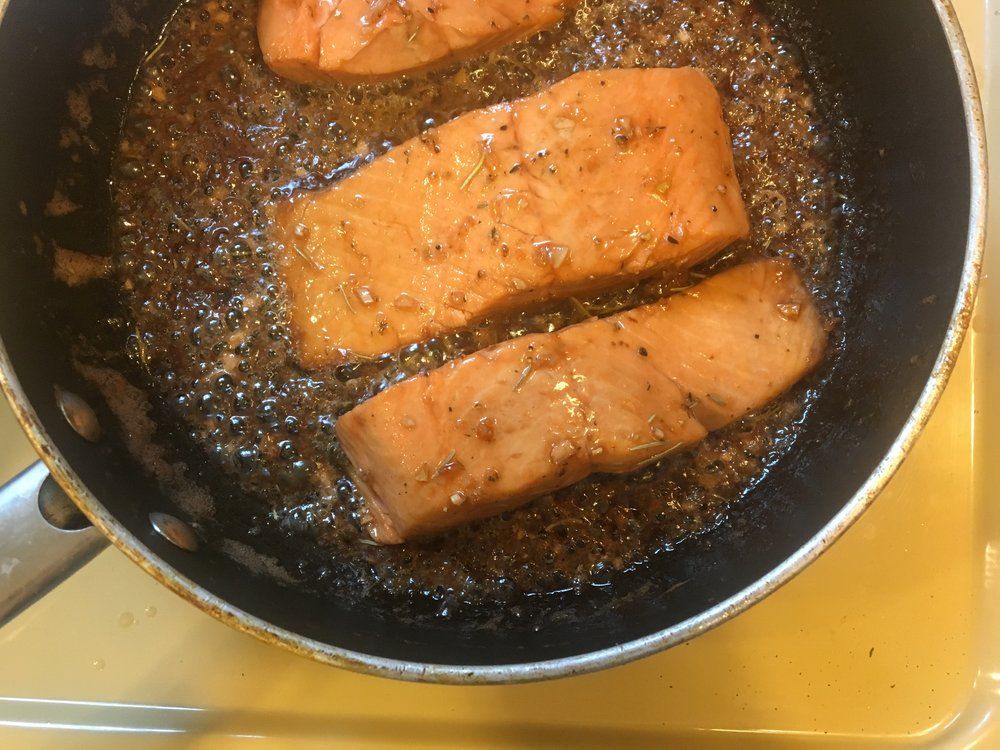Roasting Wild Alaskan Salmon with Vermont Maple Syrup