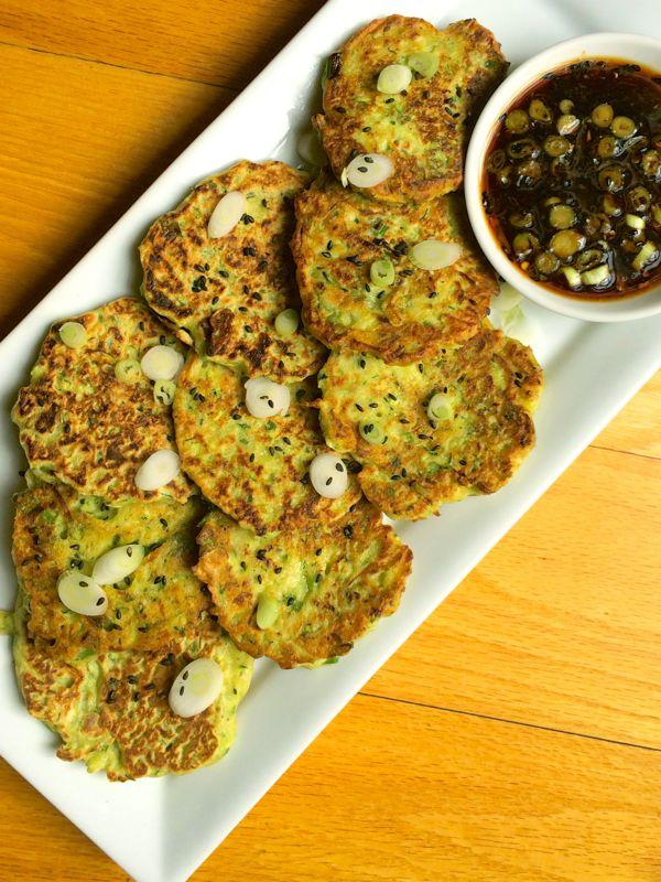 zucchini scallion fritters