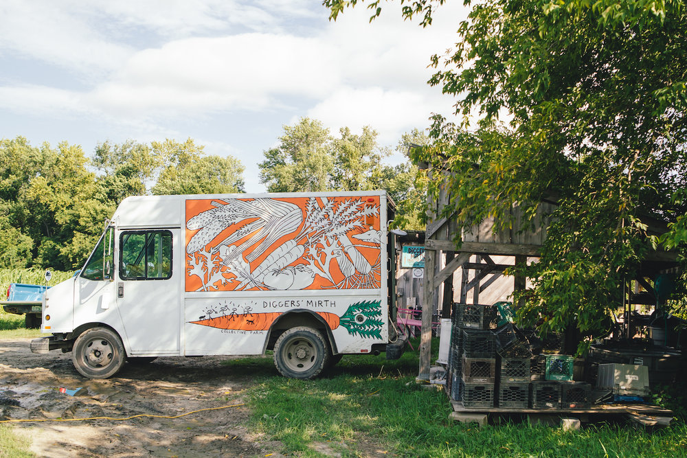 The Digger's Mirth Collective Farm Veggie Truck