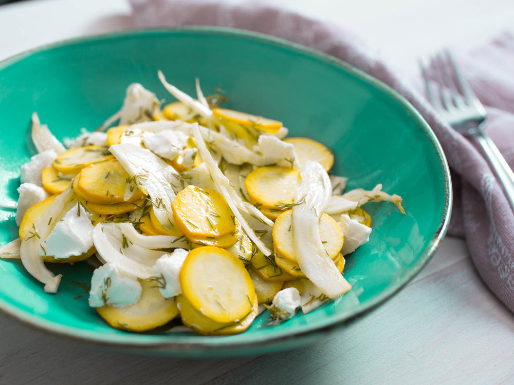squash and fennel salad