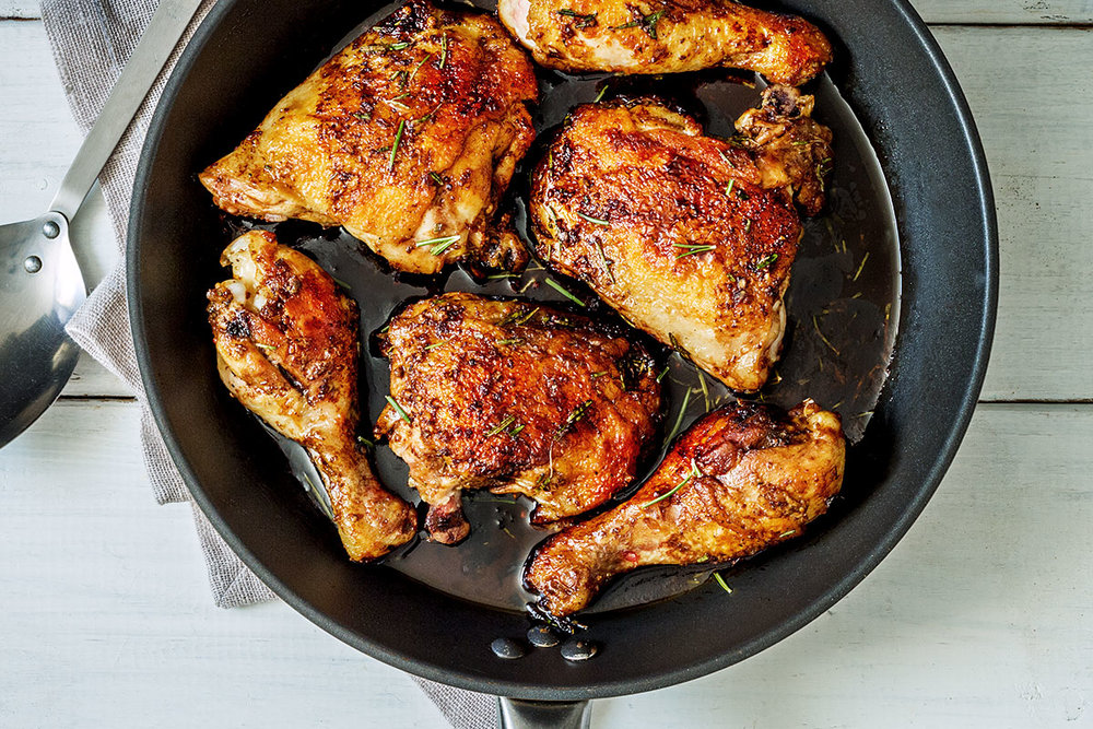 balsamic honey skillet chicken