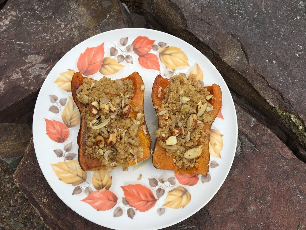 Quinoa Stuffed Honeynut Squash