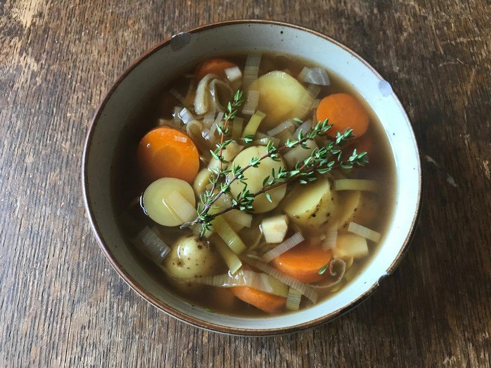 comforting veggie soup