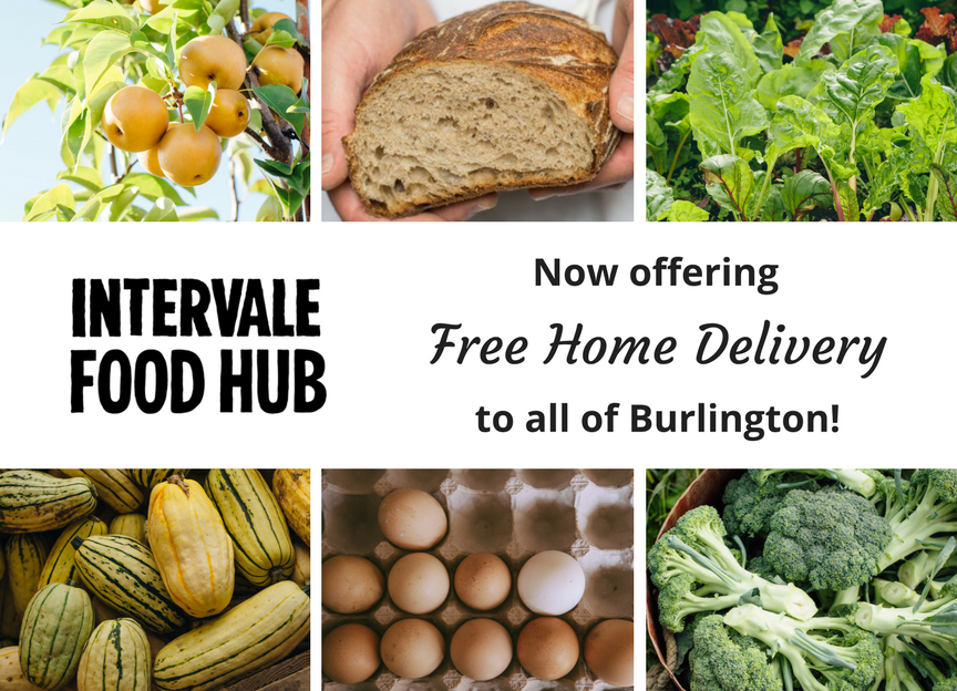 Intervale Food Hub Free Home Delivery in Burlington!