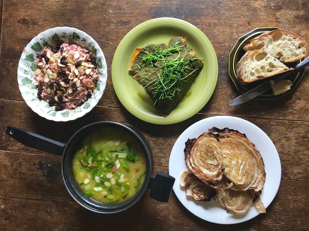 Intervale Food Hub Meal plan for Week of April 16, 2018