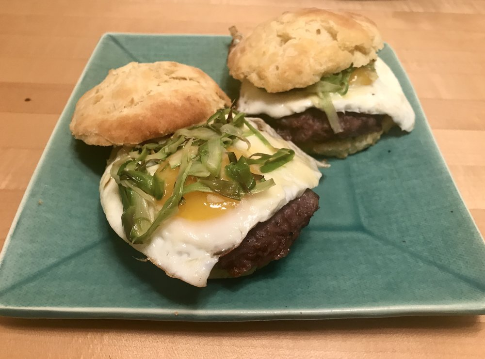 Sausage and Asparagus Breakfast Sandwiches
