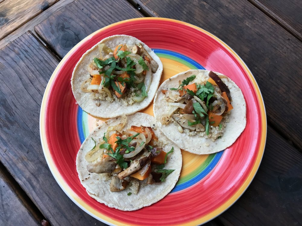 Veggie Taco with Mushrooms and Sweet Potato