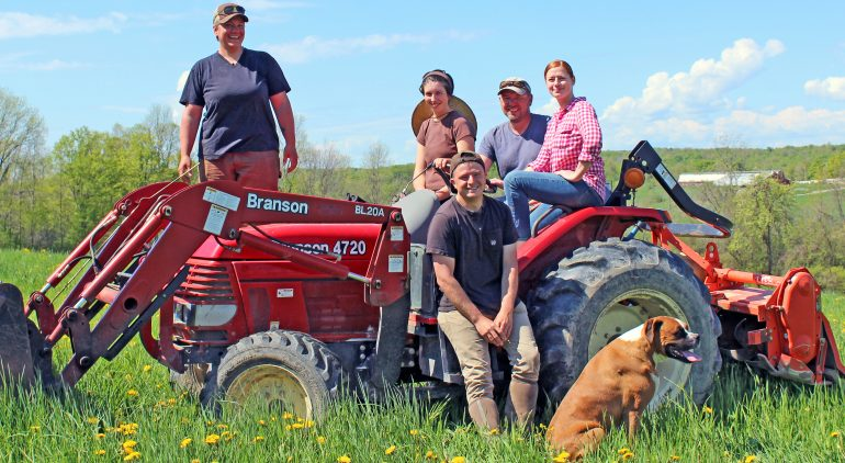 The Four Pillars Farm team, Whiting, Vermont