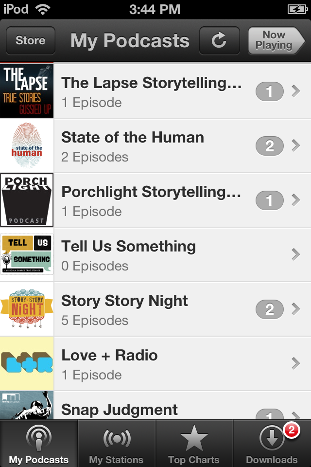 Tell Us Something podcast list