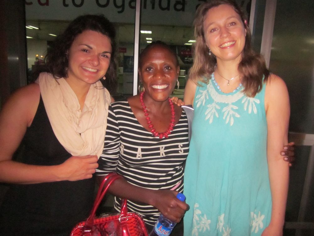 Our beloved Julie (middle) - we could not have done this without you. Kaley - forever grateful that you had the courage to start this journey with me. One day we'll return to Uganda together and have a reunion with Julie :)