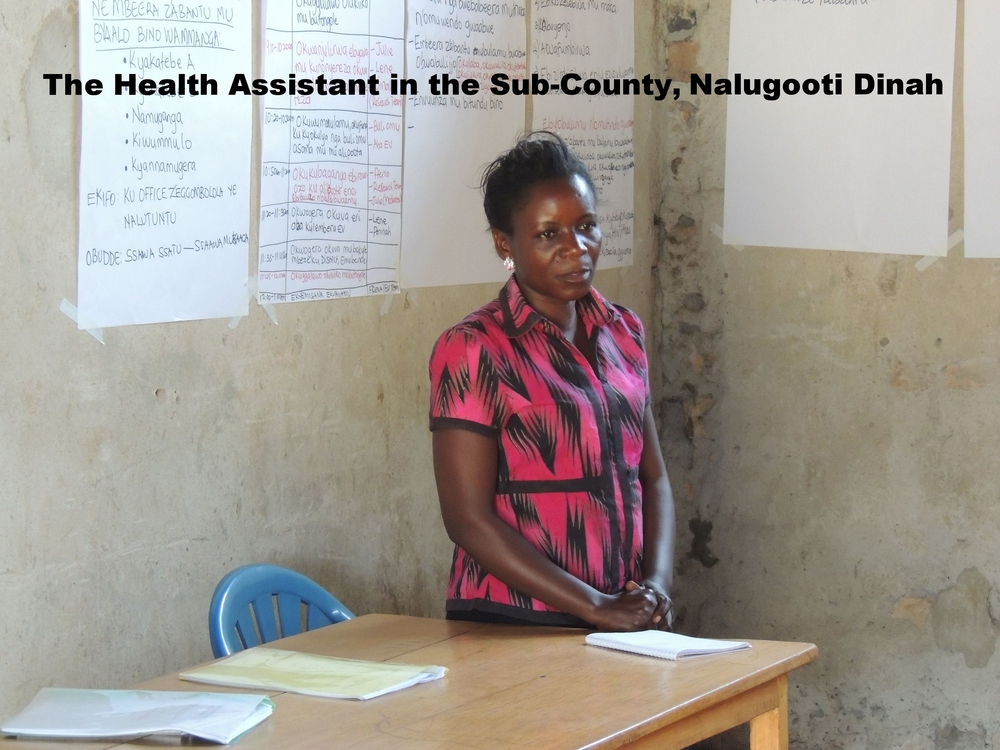 The Health Assistant at the Sub-County addressing the audience and thanking Empowered Voices for the survey.