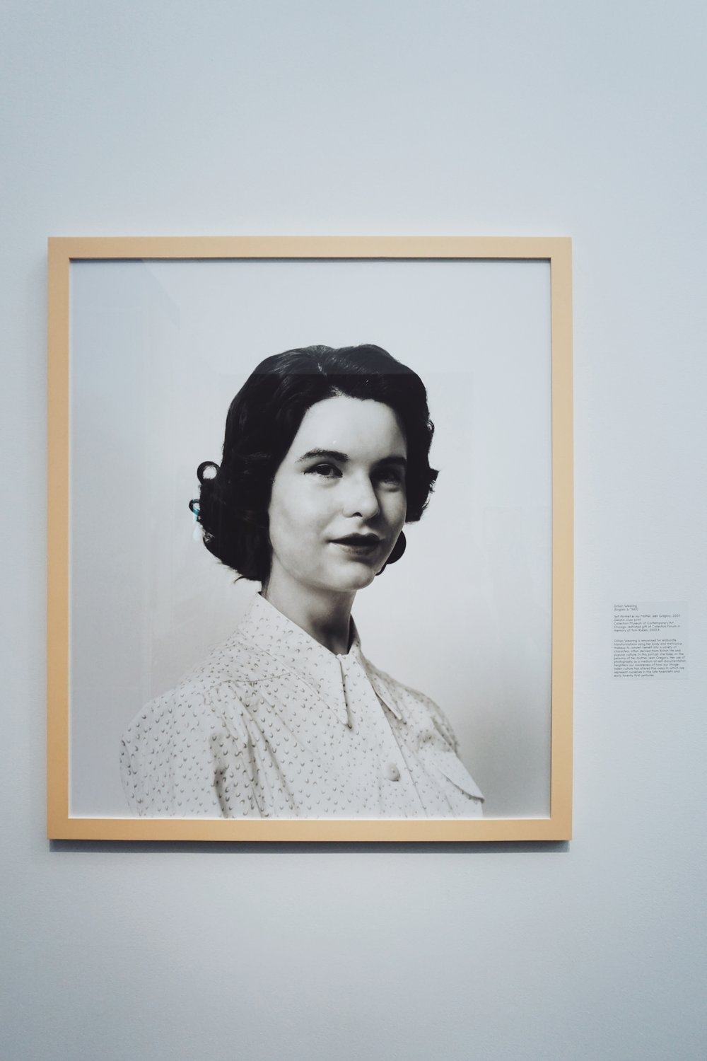 Gillian Wearing.  Self-Portrait as my Mother, Jean Gregory , 2003