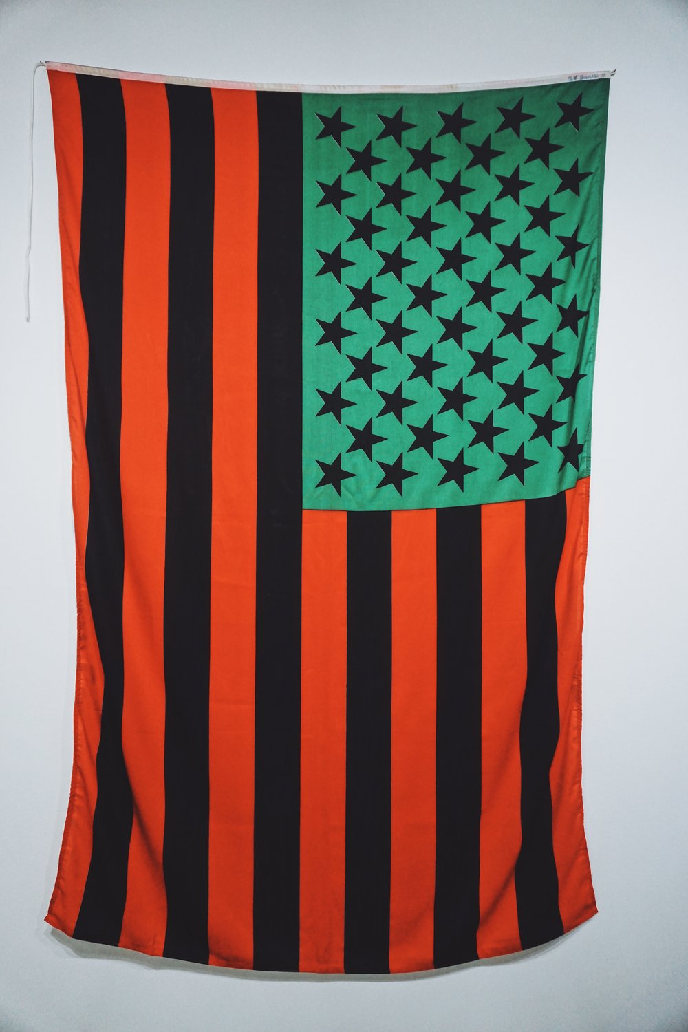 David Hammons.  African American Flag,  1990.