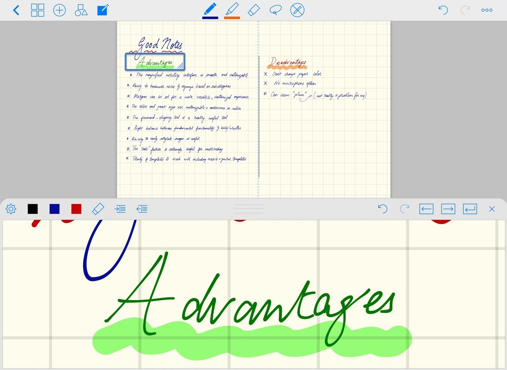 An example screenshot from GoodNotes.