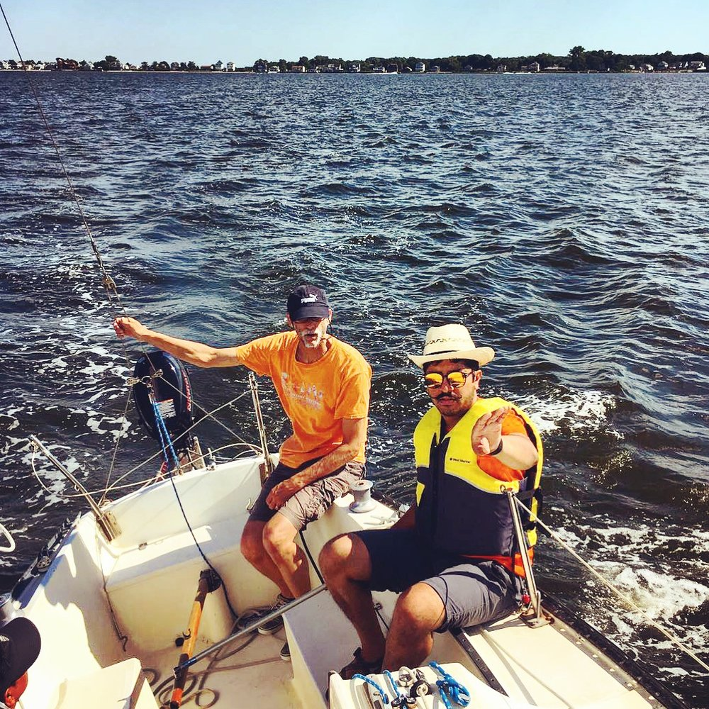 Sailing aboard Steve's  Lono  on a warm, Rhode Island Sunday - Narragansett Bay, RI