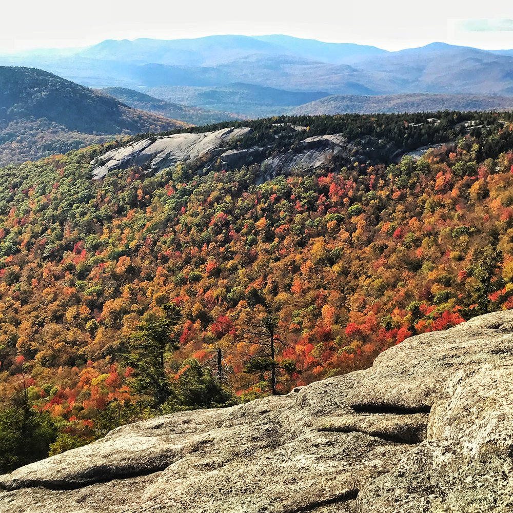 The leaves starting to change colors late into October - White Mountains, NH