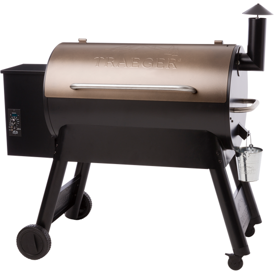 PRO SERIES 34 PELLET GRILL - Pro Series 34 - Can be utilized outside with Airplane hanger and seaplane in background