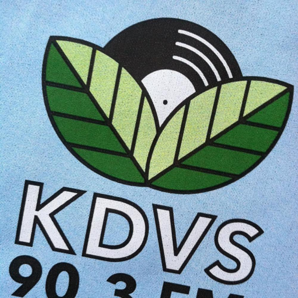 Really digging the vinyl flower on the new KDVS Tote.