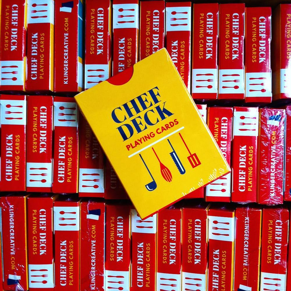 Chef Deck playing cards shipping out now to IndieGoGo donors. A few extra will be available to non-donors soon.