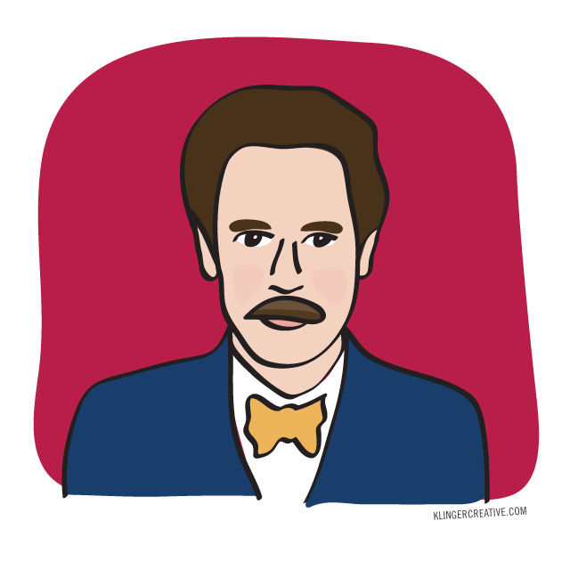 Paul F. Tompkins  is a comedian, podcaster, actor, writer and all-around funny guy. He is the voice of Mr. Peanutbutter on the fantastic  Bojack Horseman  and he also has a new-ish podcast called  Spontaneanation .  He is majestic illustration #2 for the Summer of Illustration.