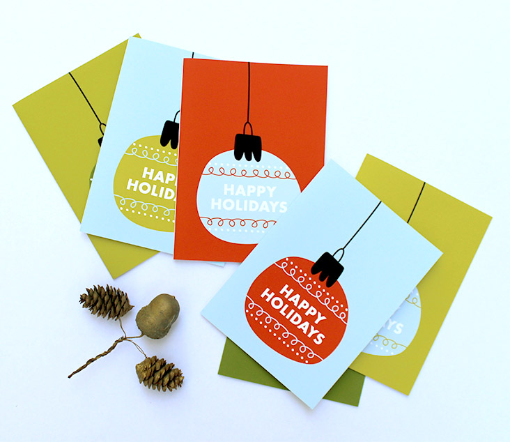 Ornament holiday cards klinger creative in preparation for the 2016 holiday season ive been designing a variety of fun holiday cards i know its august but stick with me here m4hsunfo