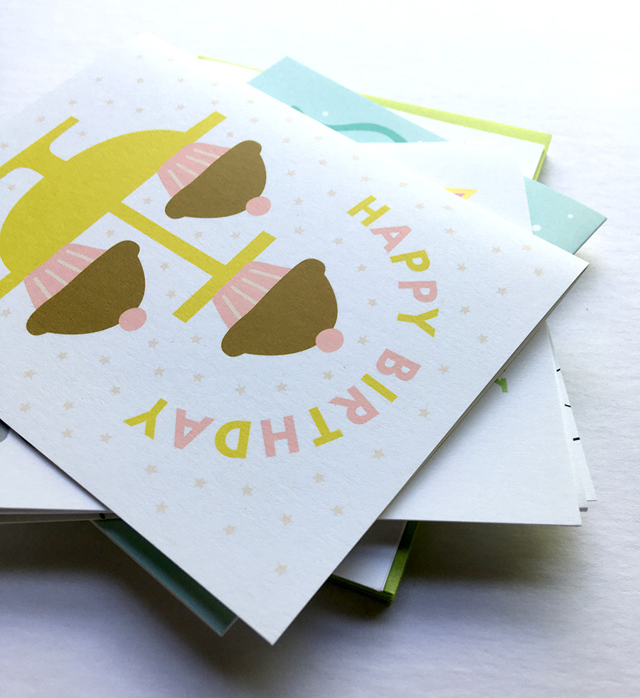 brand new to the shop are birthday card mini packs they feature 6 different birthday cards packaged in a sweet kraft brown box and include envelopes - Birthday Card Packs