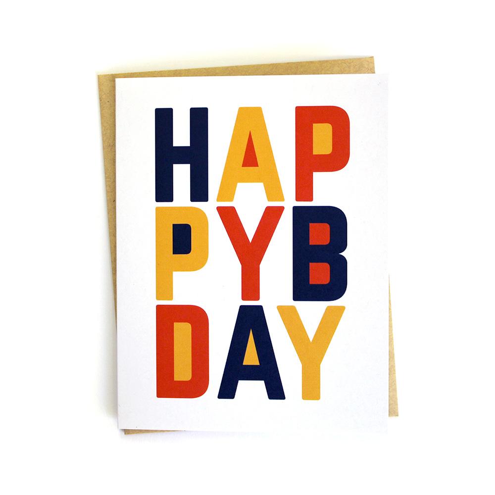 Happy Birthday 3 Color Card Klinger Creative