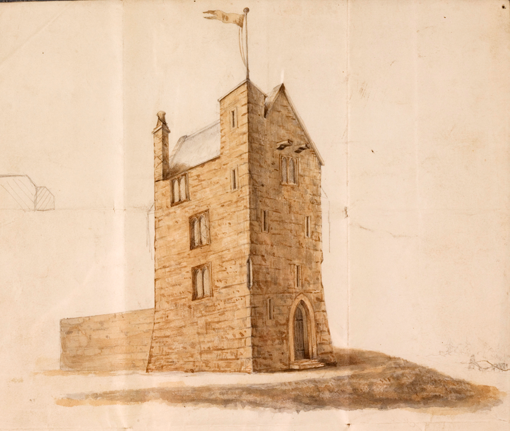 Any restoration would have been speculative - an artist's impression done before the 1852 renovation